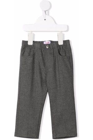 Il Gufo Elasticated-waist straight-leg trousers - Grey