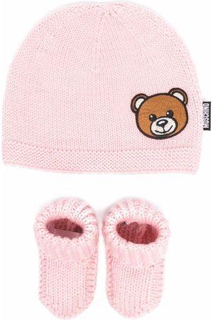 Moschino Kids Knitted hat set