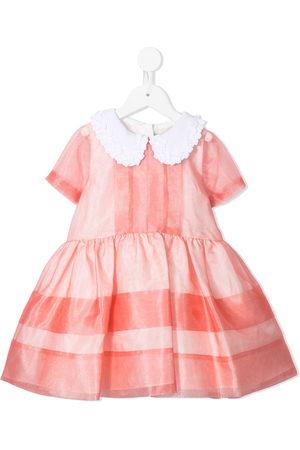 Hucklebones London Striped organza mini dress