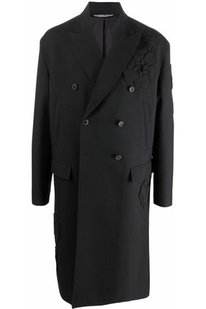 VALENTINO Garden floral-embroidered double-breasted coat