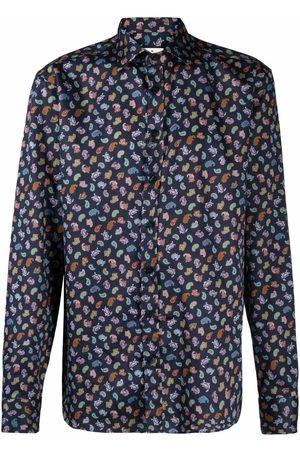 Etro Men Shirts - Paisley-print cotton shirt