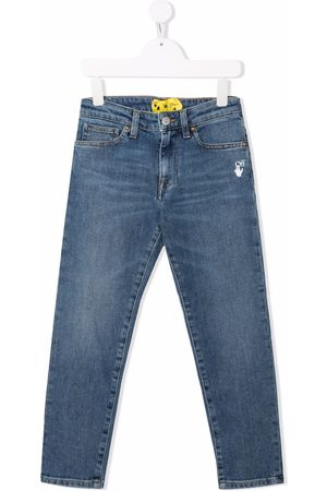 OFF-WHITE Boys Straight - Mid-rise straight jeans