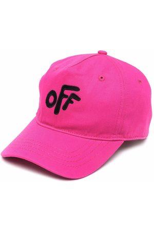 Off-White Kids Girls Caps - OFF ROUNDED BASEBALL CAP FUCHSIA BLACK