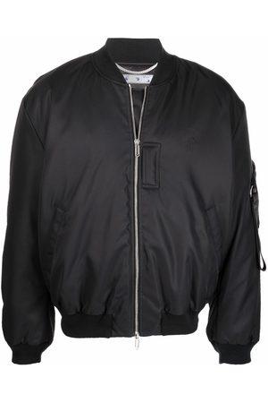 OFF-WHITE Embroidered logo bomber jacket