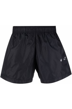 OFF-WHITE Men Swim Shorts - DIAG OW LOGO SWIMSHORTS WHITE
