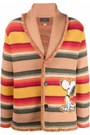 Alanui X Peanuts patterned intarsia-knit cardigan - Neutrals
