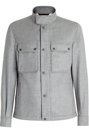 Ermenegildo Zegna High-neck shirt jacket - Grey