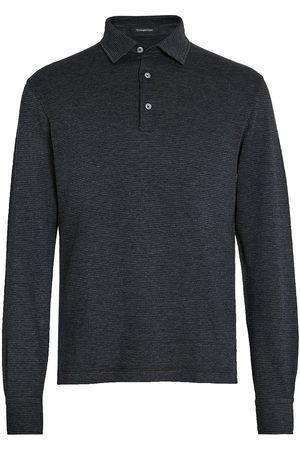 Ermenegildo Zegna Checked knit polo shirt - Grey