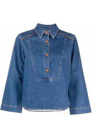 See by Chloé Three-quarter sleeve denim shirt