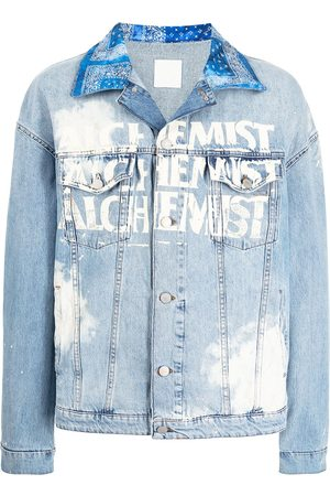 Alchemist Men Denim Jackets - Logo-print denim jacket