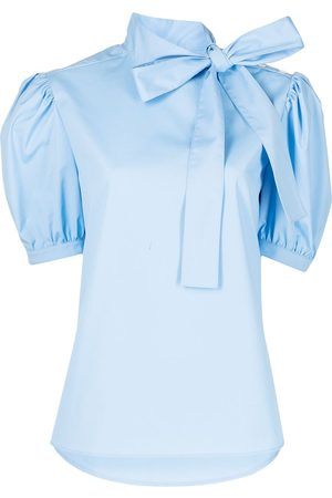 Jason Wu Women Blouses - Bow-detail puff-sleeve blouse