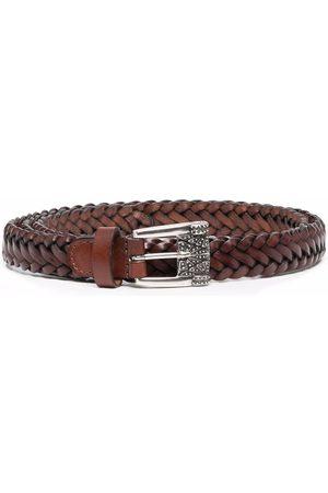Etro Women Belts - Braided leather belt