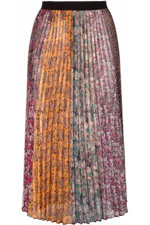 Pinko Women Printed Skirts - Floral-print pleated midi skirt