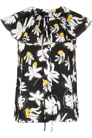Jason Wu Floral-print sleeveless silk blouse