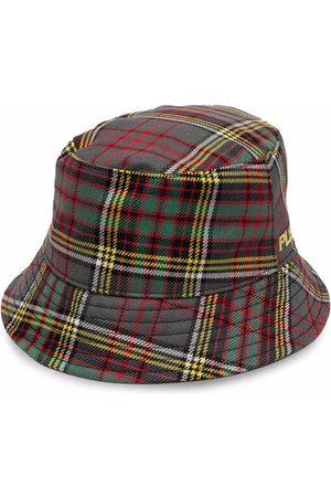 Serafini Women Hats - Tartan-check wool bucket hat - Grey