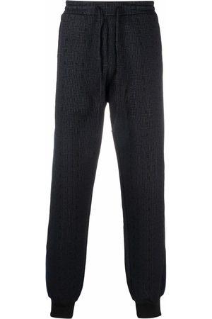 Lanvin JL Maze jacquard stripe-trim trousers