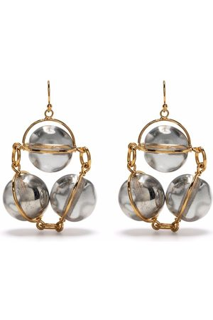 Jil Sander Two-tone sphere-detail earrings