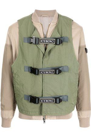 Iceberg Layered panelled bomber jacket