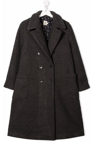 Caffe' D'orzo TEEN Gioia double-breasted coat - Grey