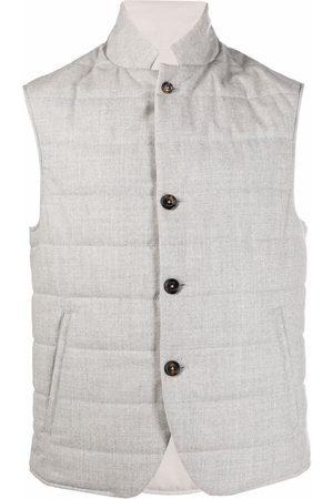 ELEVENTY Reversible padded gilet - Grey