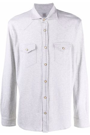 ELEVENTY Fitted long-sleeved shirt - Grey