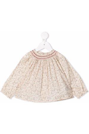 BONPOINT Abstract-print cotton blouse - Neutrals