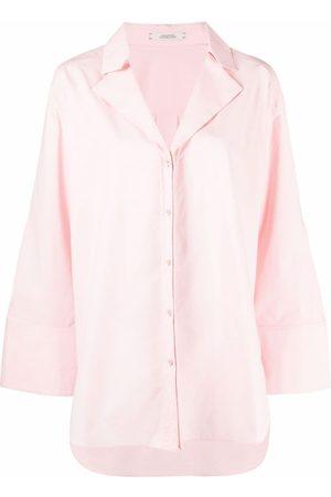 Dorothee Schumacher Curved-hem poplin blouse