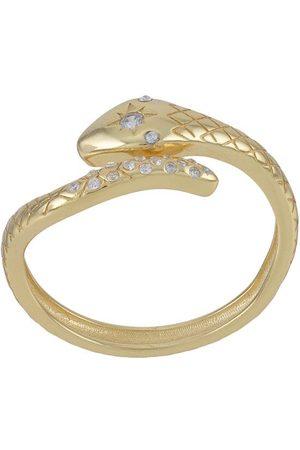 Nialaya Twisted embellished snake ring