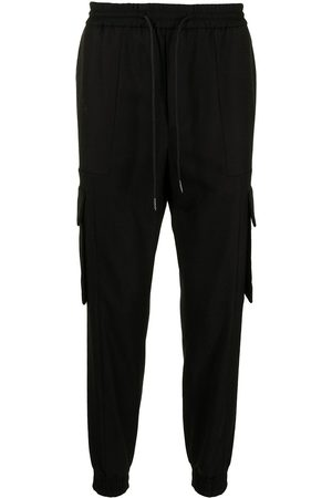 Juun.J Tapered cargo track trousers