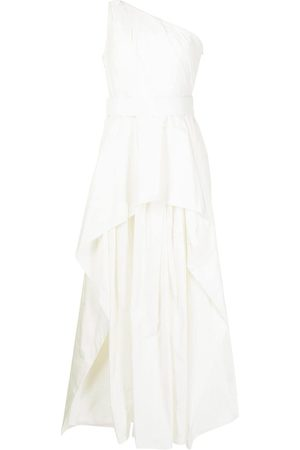 Solace London One-shoulder layered gown