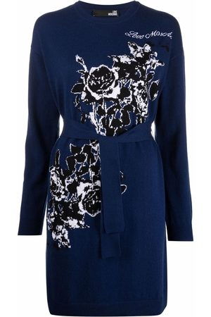 Love Moschino Belted knit dress