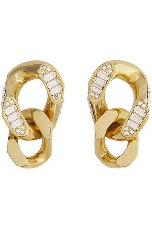 Burberry Crystal chain-link earrings
