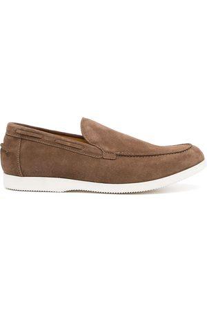 DUKE & DEXTER Slip-on suede loafers - Grey