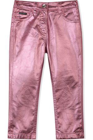 Dolce & Gabbana Metallic straight-leg trousers