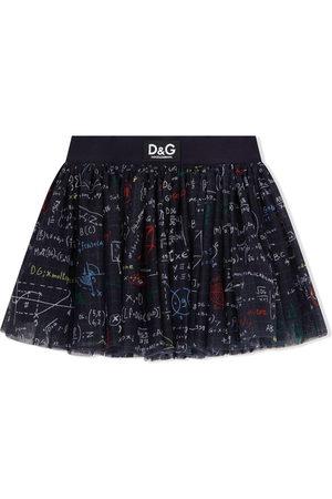 Dolce & Gabbana Algebra-print mini skirt