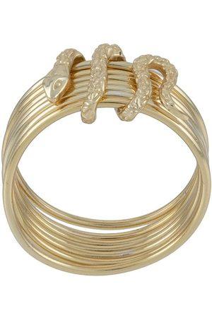 Nialaya Jewelry Stacked snake ring