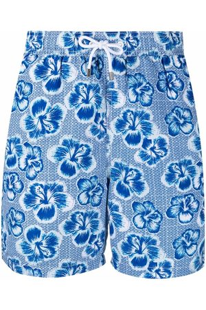 Hackett Floral-print drawstring-waist swim shorts