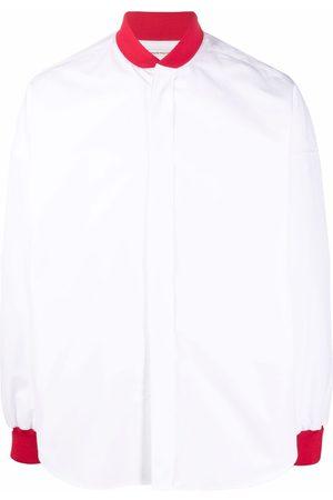 Alexander McQueen Contrasting-panel long-sleeve shirt