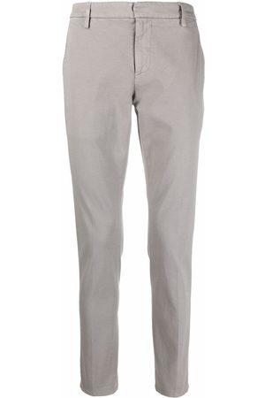 Dondup Slim-cut straight-leg chinos - Grey