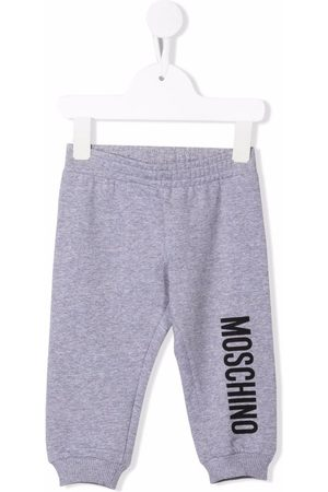 Moschino Logo-print cotton track trousers - Grey