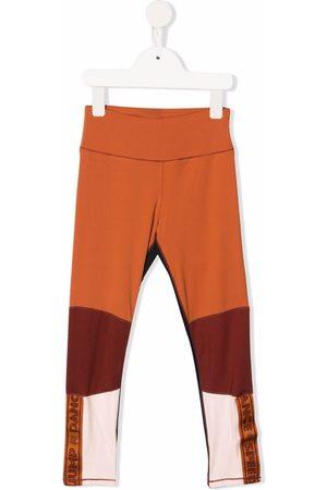 Molo Logo-tape color-block trousers