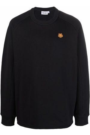 Kenzo Men Sweatshirts - Tiger-patch sweatshirt