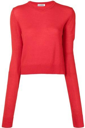 Jil Sander Long-sleeve cropped wool jumper