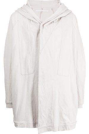 JULIUS Concealed-fastened oversized hoodie - Grey