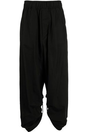 JULIUS Men Wide Leg Pants - Tape-detail wide-leg trousers