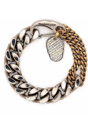Alexander McQueen Men Bracelets - Skull-charm chunky chain bracelet