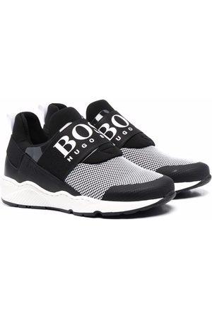 HUGO BOSS Boys Flat Shoes - Logo-print slip-on sneakers