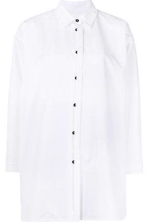 Jil Sander Women Long sleeves - Long-sleeve cotton poplin shirt