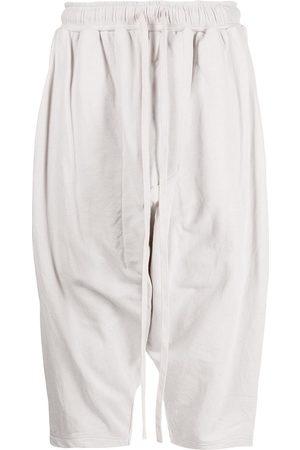 Julius Cropped drop-crotch track pants - Grey