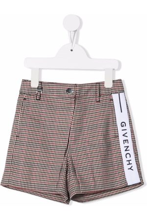 Givenchy Kids Logo tape houndstooth shorts - Neutrals